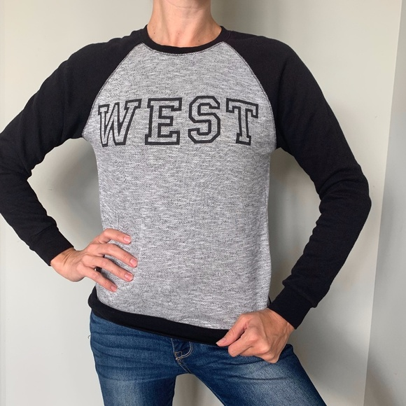 """""""West Coast"""" Number 1 Gray/Black Pullover Sweater"""